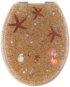 Mebasa MYBWCSL04 Abattant WC étoiles de mer de myBath avec frein de chute