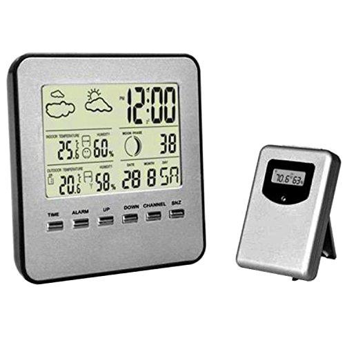 Home Digital Wireless-Temperatur Luftfeuchtigkeit Sensor Innen-Außenthermometer Wetterstation