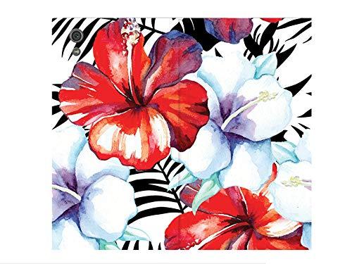 etuo Sony Xperia XA1 - Hülle Flex Book Fantastic - Exotische Blumen - Handyhülle Schutzhülle Etui Case Cover Tasche für Handy