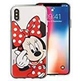 iPhone XS Max Coque Disney Cute Coque Jelly Souple pour [Apple iPhone XS Max (16,5 cm)] Coque Heart Minnie (iPhone XS Max)