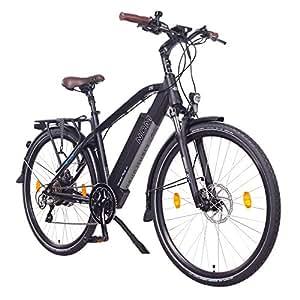 NCM Venice Plus 48V 28 Zoll Trekking / Urban E-Bike, 250W Das-Kit Heckmotor, 16Ah 768Wh designer Rahmen Akku mit Panasonic Li-Ion Zellen, hydraulische Tektro Scheibenbremsen, 8 Gang Shimano Altus / Acera Gangschaltung, schwarz