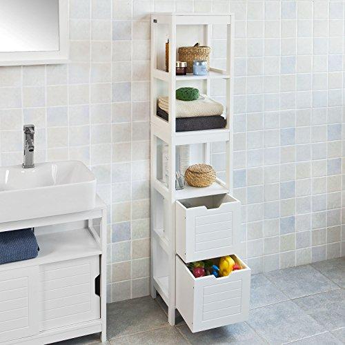 SoBuy® Mobiletto da bagno di alta, Mobile a colonna da