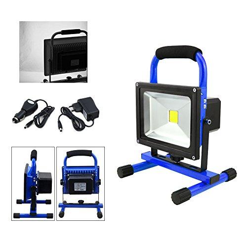 VINGO 20W LED AKKU Strahler Balu IP65 3000K-3500K Baustrahler Handlamp Arbeitslampe Arbeitsleuchte Kaltweiß