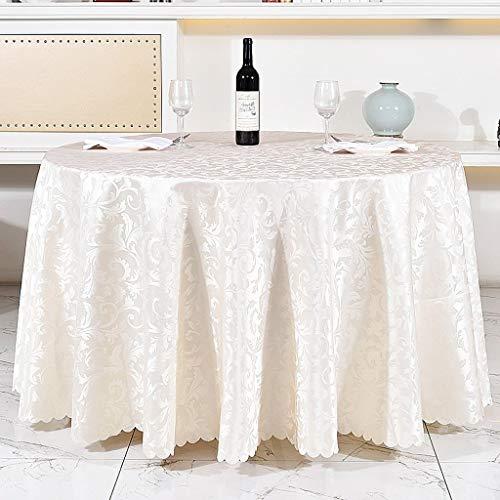 JFFFFWI Hotel Restaurant Café européen, Nappe, Nappe en Tissu Polyester Enduit, conférence, Ronde, diamètre 81 cm 94.48Table Nappe nappes en Tissu Housse de Table (Couleur : Blanc)