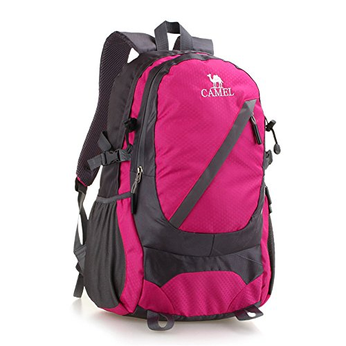 Wewod Nylon Reiten Rucksack Multifunktionale Outdoor Sport Reise Wasserdicht Rose Red