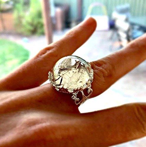 stunning-silver-dandelion-seed-ring-real-dandelion-flower-wish-jewelry-adjustable-glass