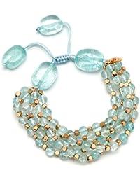 Lola Rose Women Blue Coral Quartz Strand Bracelet of Length 18cm 693875 eGj31ZASP