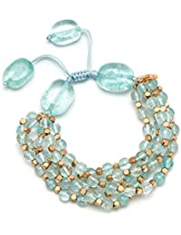 Lola Rose Women Blue Coral Quartz Strand Bracelet of Length 18cm 693875