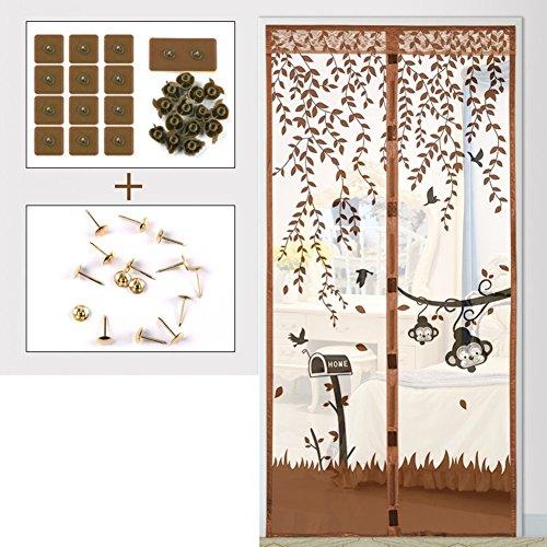 Eqeq schermo magnetico porta anteriore porta tenda a maglie con heavy duty full frame tenere in velcro da mosche bug si adatta le dimensioni della porta-b 130x200cm(51x79pollici)