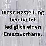Ridder 39000-350 Ersatz-Duschvorhang für Duschfaltkabine Ombrella, 210 x 170 cm, Brillant transparent