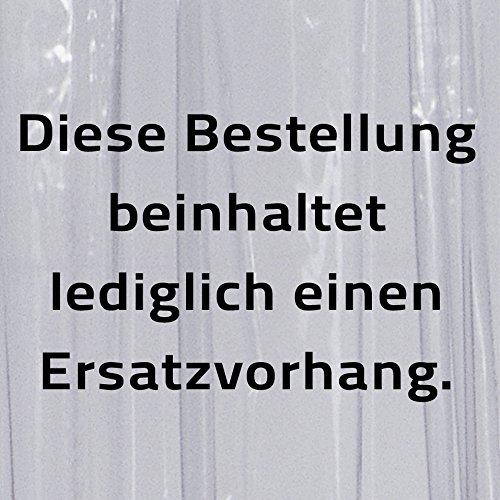 Ridder 390000-350 Ersatz-Duschvorhang für Duschfaltkabine Ombrella, 210 x 170 cm, Brillant transparent