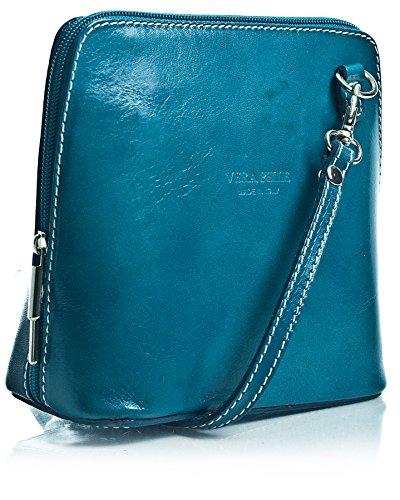 Big Handbag Shop, Borsa a tracolla donna One Blu (Teal)
