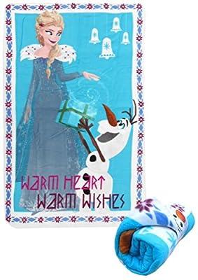 Disney wd19566Frozen–Elsa & Olaf 'cálido corazón cálido Deseos de 150cm x 100cm Manta de Forro Polar por Disney