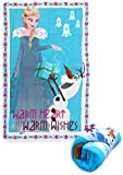Disney wd19566 Frozen – ELSA und Olaf 'Warmes Herz Warm Wishes' 150 cm x 100 cm Polar Fleece Decke