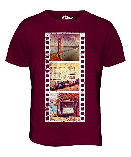 CandyMix San Francisco Fotografischer Film Herren T Shirt Burgunderrot