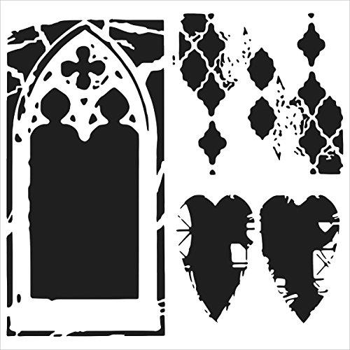 Crafters Workshop-Stencil, in plastica, 6 x 6 cm della Cattedrale di Amore