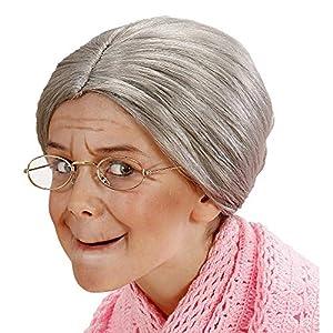 WIDMANN?Peluca nonnina de bolsa Girls, Gris, talla única, vd-wdm6271g