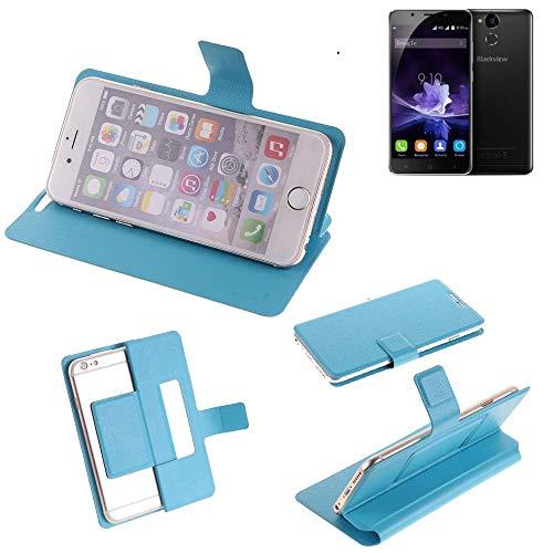 K-S-Trade Flipcover für Blackview P2 Schutz Hülle Schutzhülle Flip Cover Handy case Smartphone Handyhülle blau