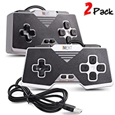 iNNEXT 2 Pack Gamepad /Controlador USB SNES para PC / portátil / tableta diseño retro para Super Famicom Windows PC (SNES para PC)