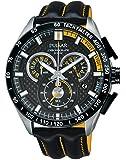 Pulsar Herren-Armbanduhr XL WRC Chronograph Quarz Leder PX7007X1