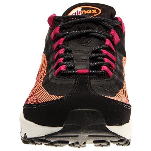 NIKE Air Max 95JCRD Homme Sneakers 644793-001 - BLACK/ANTHRACITE/TOTAL ORANGE/METALLIC SILVER