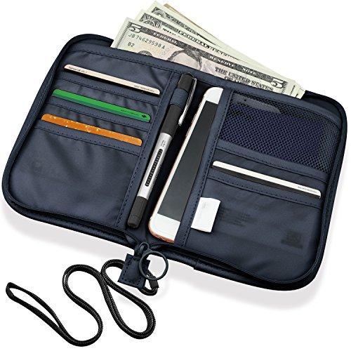a8fc07ca9 Cartera para pasaporte Viaje tarjeta titular billetera con cremallera bolso  organizador del sostenedor Documentos monedero de