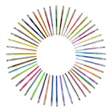 Newdoer 48 Gel Pens in Case - Lasts 50% Longer - Best Art pens for Adult Colouring Books,Draw,and Write, This Pen Sets with New Long-Lasting Ink Technology