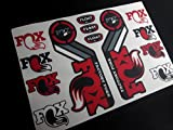 Ecoshirt NQ-OHSW-SC4F Autocollants Fox 2015 Fourche Suspension Eco27 Stickers Aufkleber Stickers Bike Rouge 031