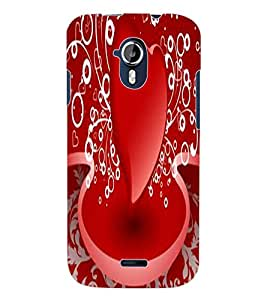 ColourCraft Lovable Heart Design Back Case Cover for MICROMAX CANVAS MAGNUS A117
