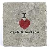 I Love Jack Albertson - Marble Tile Drink Coaster