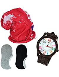 Perfect Combo For Mens And Boys Pack Of Cotton Blended Unisex Free Size Beanie Cap-1, Analogue Unisex Watch Party... - B078RPKWRH