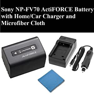 nouvelle originale sony np fv70 actiforce batterie avec accueil chargeur de voiture et de. Black Bedroom Furniture Sets. Home Design Ideas
