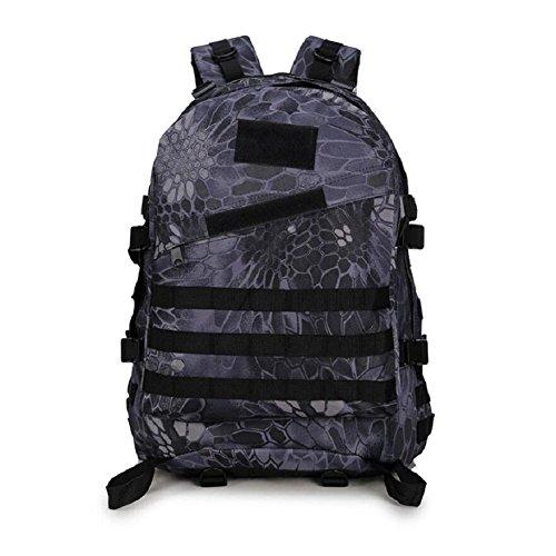 Minetom 40L Camouflage Tactical Rucksack Erwachsene Taktischer Militär Rucksäck Outdoor Oxford Leichtgewichtig Wanderrucksäcke Camouflage G Einheitsgröße (Stand Chromebook)