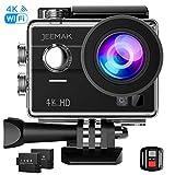 Jeemak Action Cam 4K Wifi 16MP Touchscreen 30M Wasserdicht Unterwasser Kamera mit 2 Akkus...