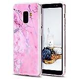 CaseLover Galaxy A8 Plus/ A8+ Hülle, TPU Weiche Silikon Handyhülle Dünne Bunte Natur Marmor Muster Gehäuse Schutzhülle Cover für Samsung Galaxy A8+ 6,0