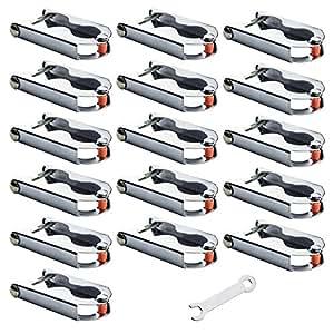 16x trampolin awm befestigungsklammern f r stangen pfosten netz ersatzteile zubeh r. Black Bedroom Furniture Sets. Home Design Ideas