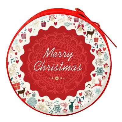 thematys Geschenkbox mit Reißverschluss für Geschenke Aller Art 8cmx8cmx3cm - ausgefallene Geschenkboxen für Weihnachten in Verschiedenen Designs (4)