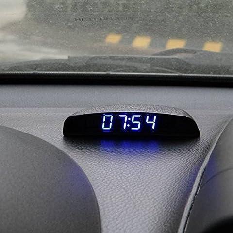 AUDEW Coche el¨¦ctrico de temperatura termometro reloj temporizador digital luminoso volt¨ªmetro de