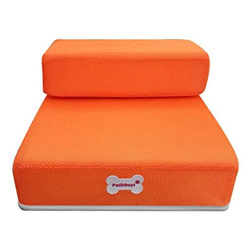 Etbotu creativo pieghevole Jump scale cane gatto maglia rampa Pet Mat cuscino letto Orange