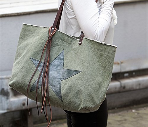 Shopper +Star+ Canvas / Leder (Canvas Star)