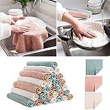 yasheep Mikrofaser Geschirrtuch quadratisch Waschen Reinigung Tuch Gericht Hadern abwischbar für Küche Bar