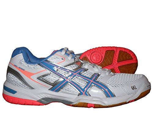 Asics Gel Spike 2 W Damen-Hallenschuh / Volleyball Indoor-Schuhe Weiß mit Gel-Dämpfung für Freizeit und Sport 38 Weiß (Asics Volleyball-schuhe Für Frauen)