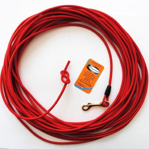 hundeinfo24.de 10 Meter Schleppleine aus roter, runder Biothane (coated rope)