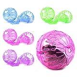 Pink Lizard Esercizio del gioco roditore fare jogging giocattolo piccola sfera per topi criceto