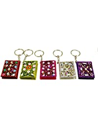 A Set Of 5 Hand Carved Dairy Key Ring,key Chain, Key Holder Key Chain