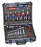 kwb Werkzeug-Koffer inkl. Werkzeug-Set, 129-teilig, gefüllt, robust und hochwertig, ideal für den Haushalt oder die Garage, im stabilen Alu-Koffer
