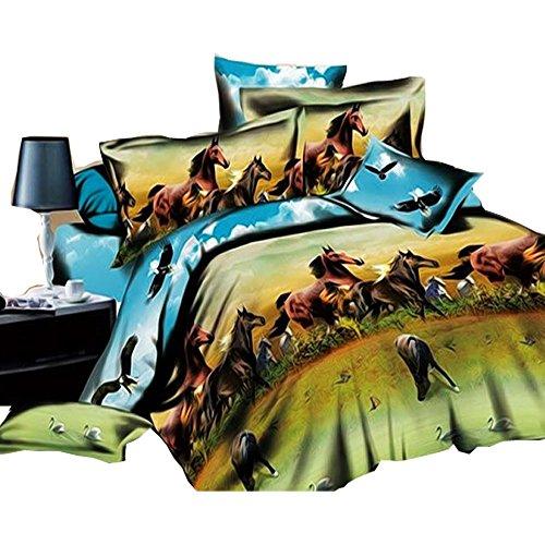 Zehn Tausend Pferde 3D Bettwäsche-Set, Baumwolle 4Betten-Sets DOUBLE Größe und King Size kann erhältlich, baumwolle, King Size