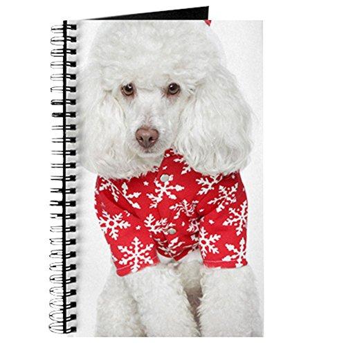 Mama Claus Kostüm - CafePress-Weiß Spielzeug Pudel in Christmas Hat --Spiralbindung Notizbuch, persönliches Tagebuch, Dot Grid