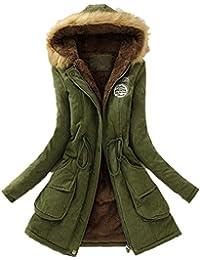 Reaso Manteaux Hiver Femme Parka Elegant Pullover Chaud Veste à Capuche  Manteau Tunique Manches Longue Grande 62de8f268cf5
