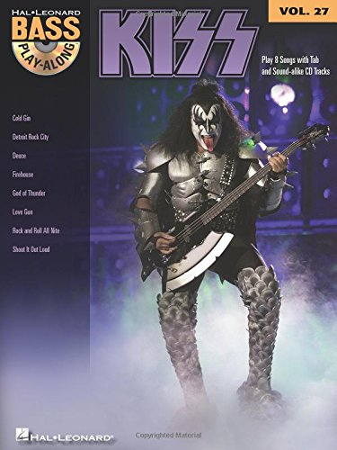 Bass Play Along Vol.27 Kiss Tab CD (Book & CD)